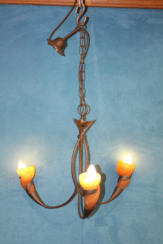Three branch chandelier