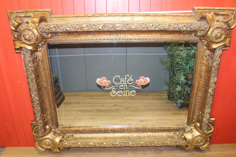Gilt wall mirror