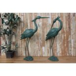 Cast iron models of Storks