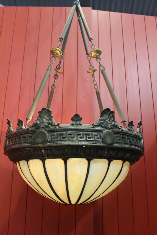 Brass hanging ceiling light