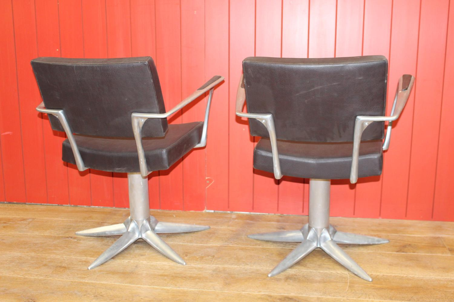 Pair of stylish swivel armchairs - Image 2 of 2