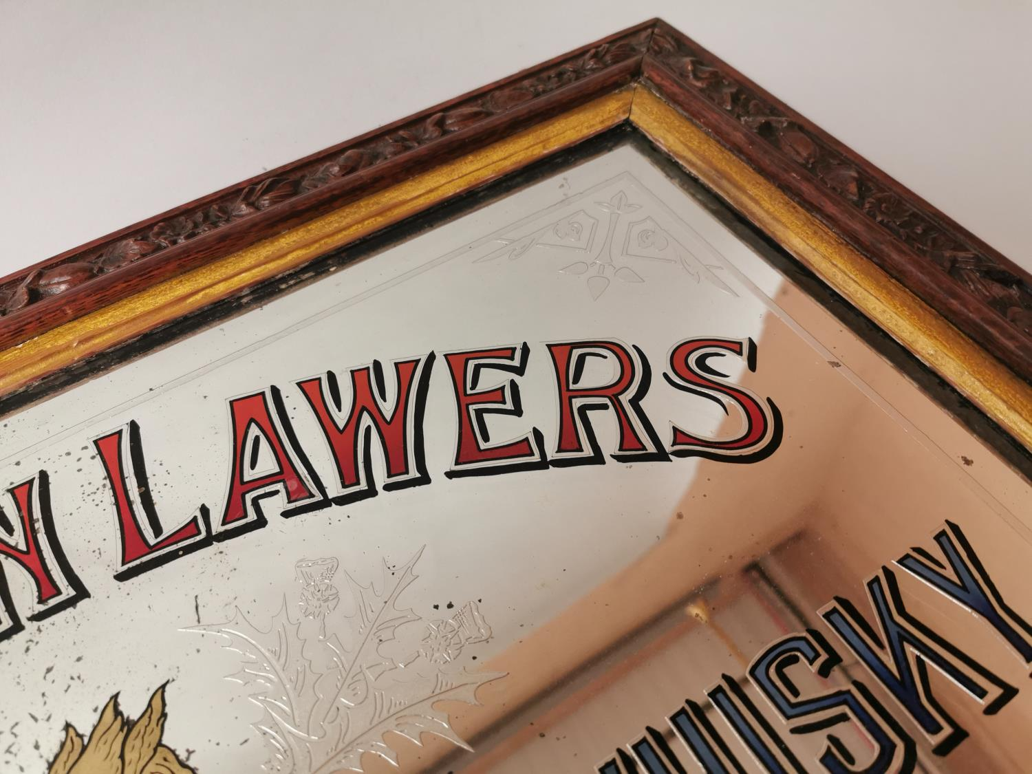 Dew Of Ben Lawers Whisky advertising mirror. - Image 3 of 5
