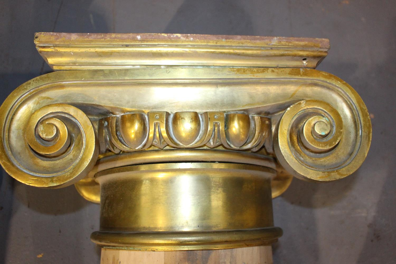 20th C. mahogany pillars - Image 2 of 3