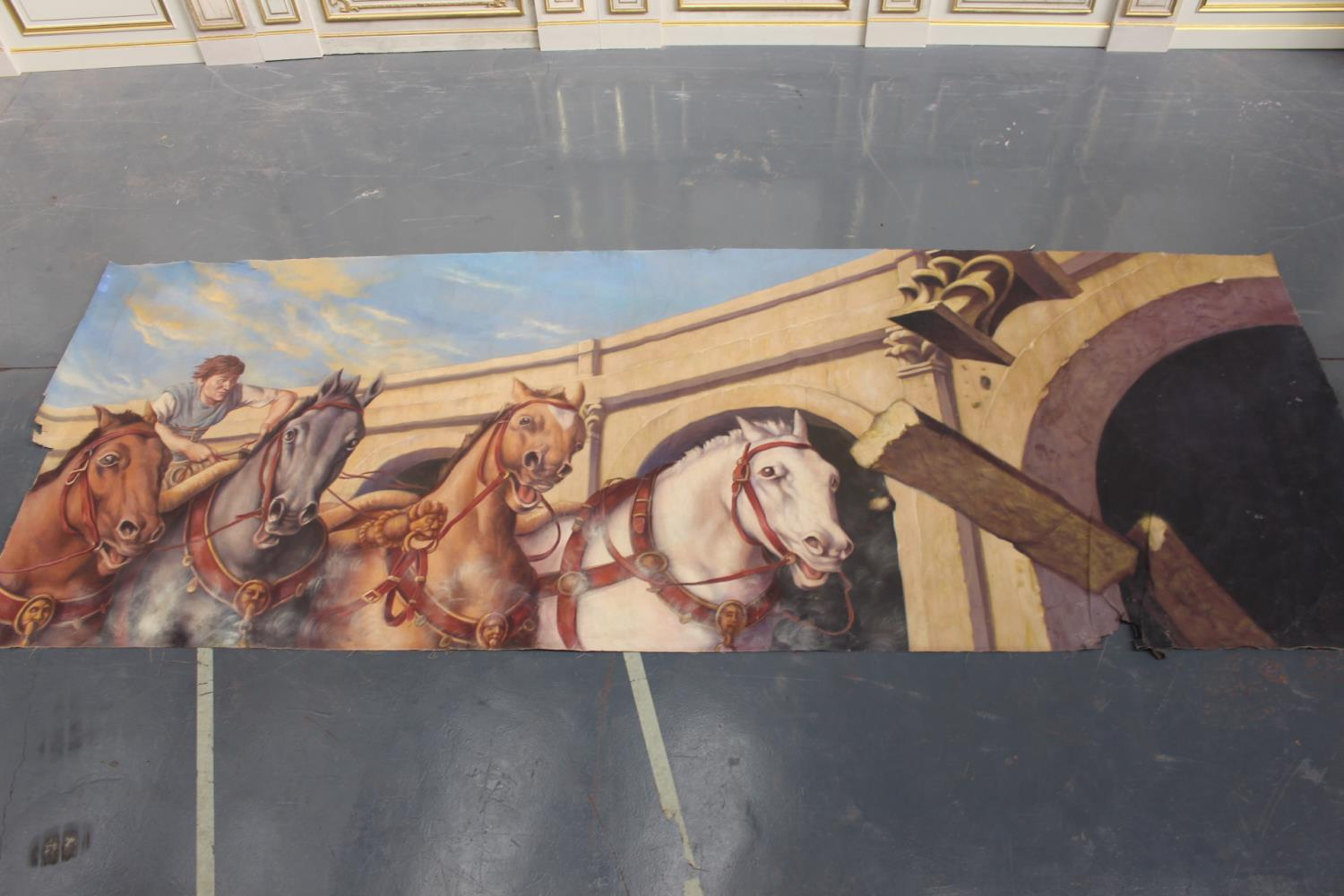Roman Chariot and horses print on canvas
