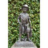 Good quality bronze model of a Boy.