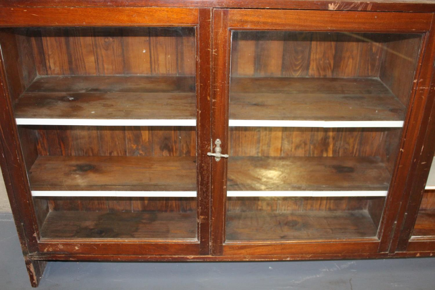 19th C. Mahogany two piece shop display cabinet - Image 3 of 3