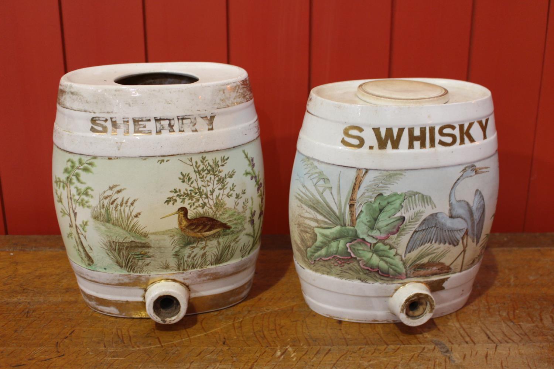 Two 19th C. ceramic dispensers