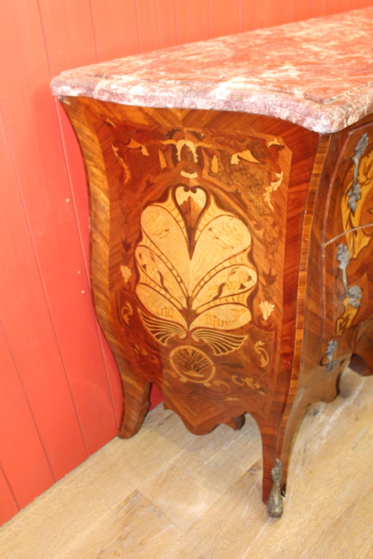 Inlaid walnut Bombay chest - Image 2 of 2