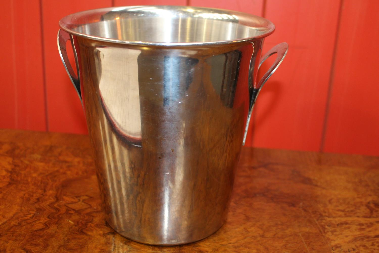 White metal champagne bucket