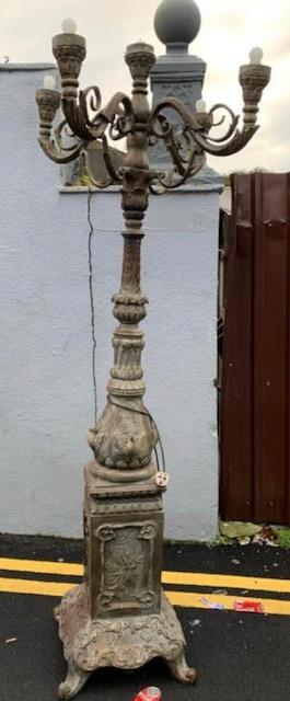 Pair of decorative bronze torchieres.