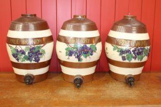 Three 19th C. 5 gallon earthenware dispensers
