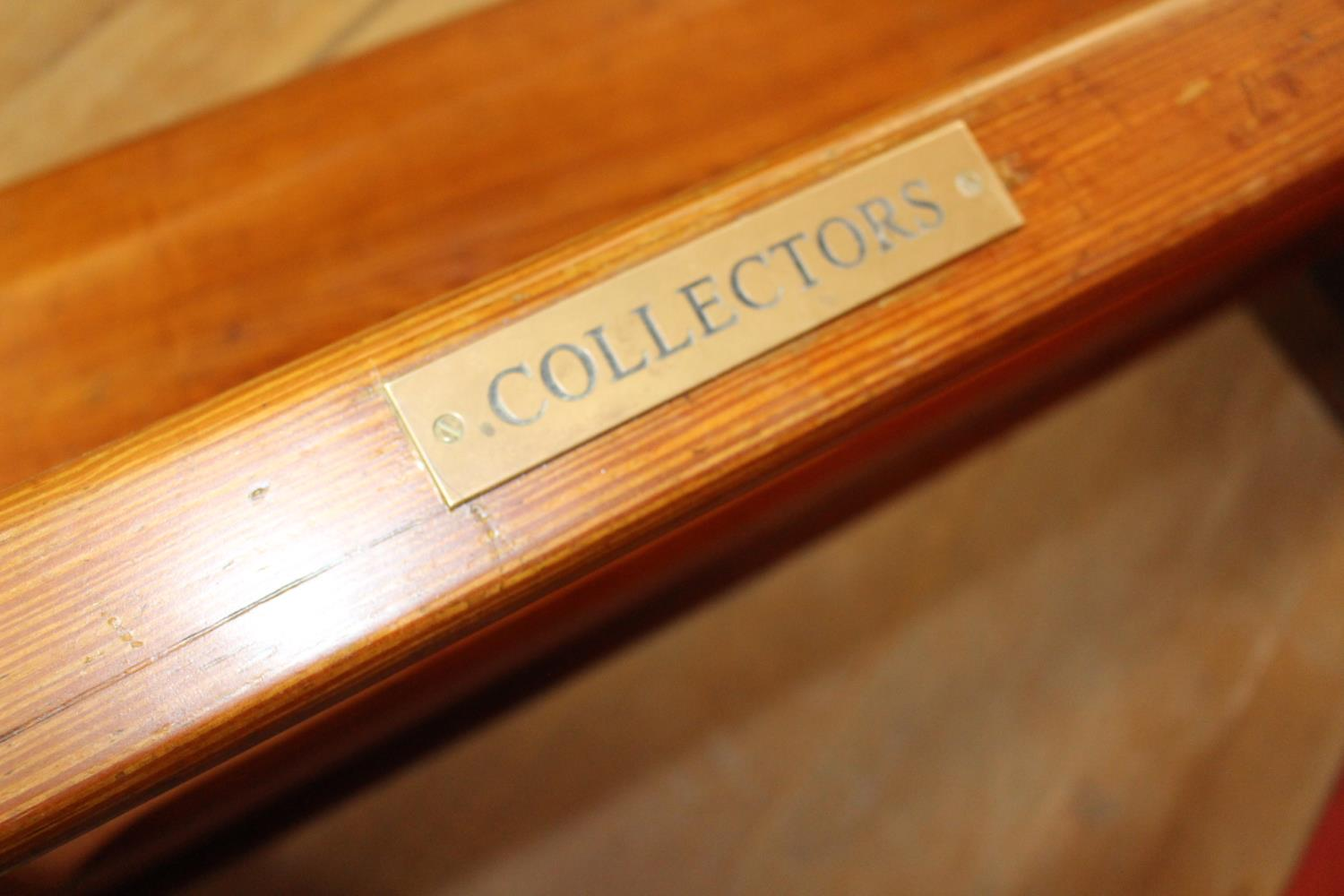 19th C. pitch pine pew - Image 2 of 2