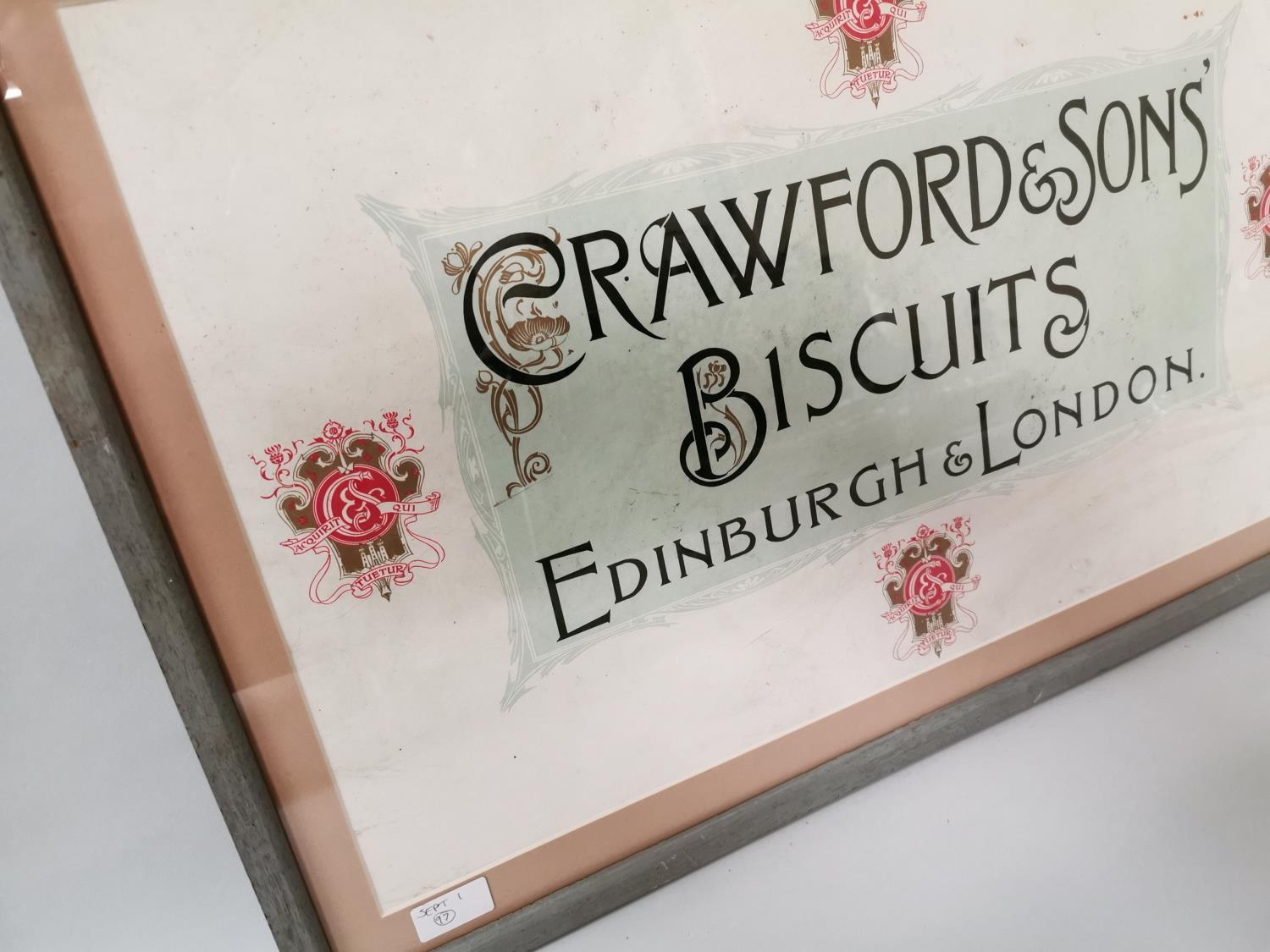 Crawford's & Sons Biscuits framed advertisement. - Image 4 of 4