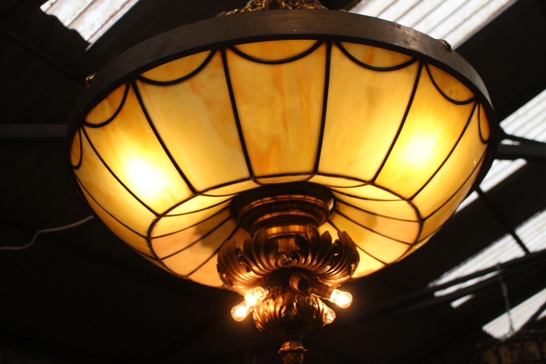 Bronze hanging ceiling light