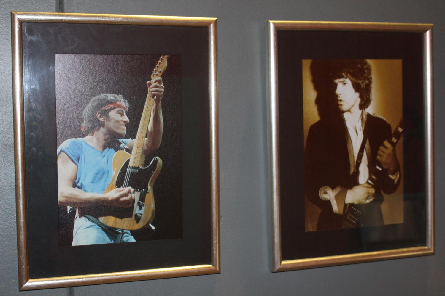 Pair of Rock Artists coloured prints
