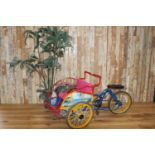 Rare child's rickshaw bike