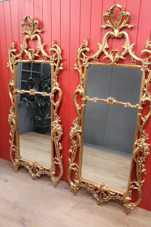 Decorative giltwood wall mirror