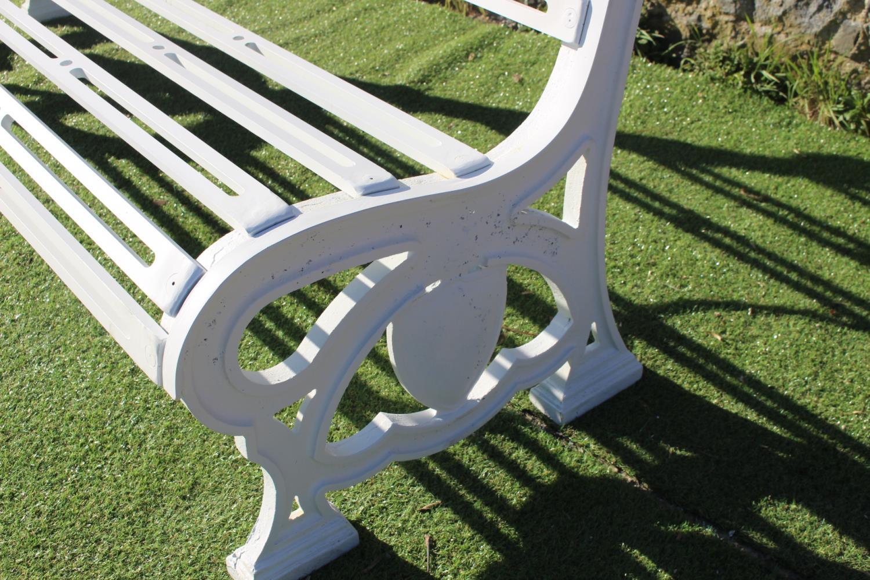 Cast iron garden seat - Image 2 of 2