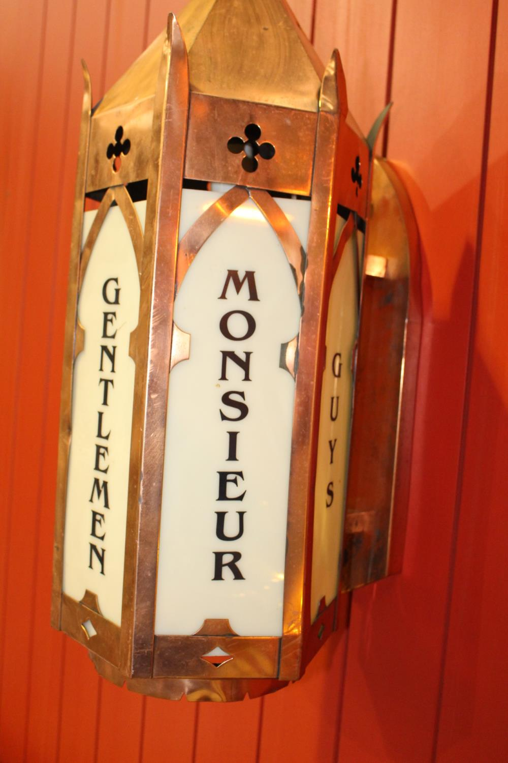 Copper multilingual light up Toilet sign - Image 3 of 3