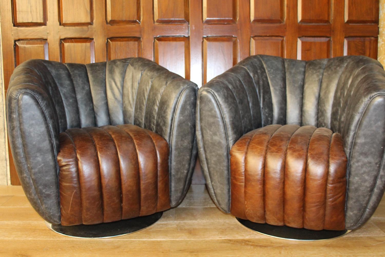 Pair of Dialma tub chairs.