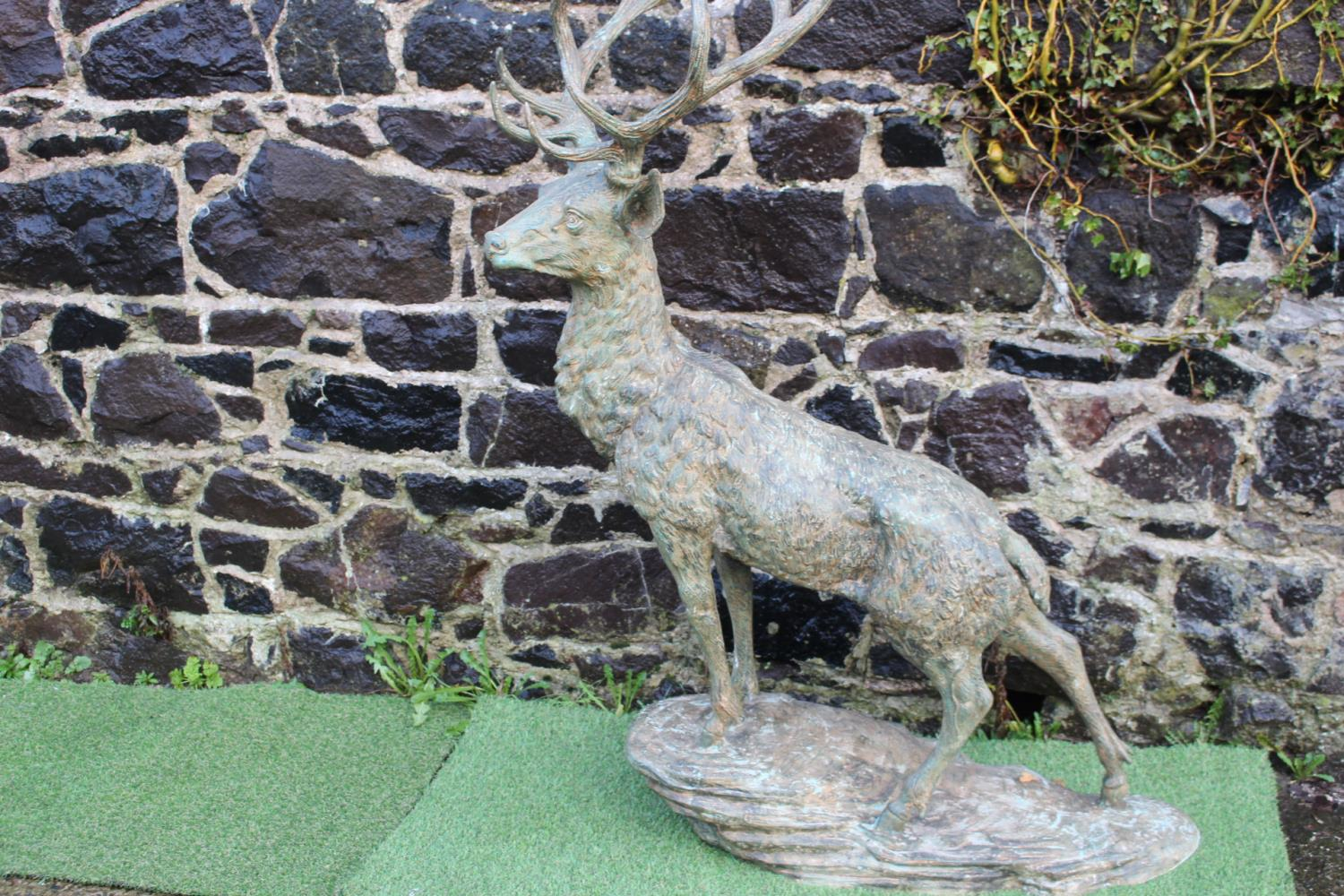 Bronze model of a stag