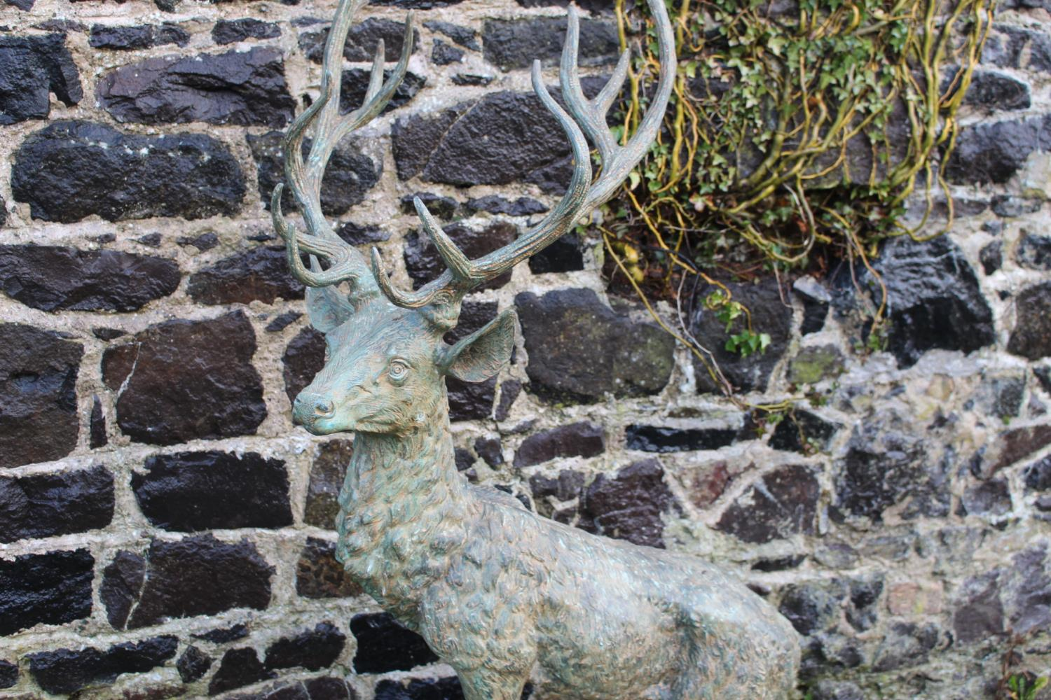 Bronze model of a stag - Image 2 of 3