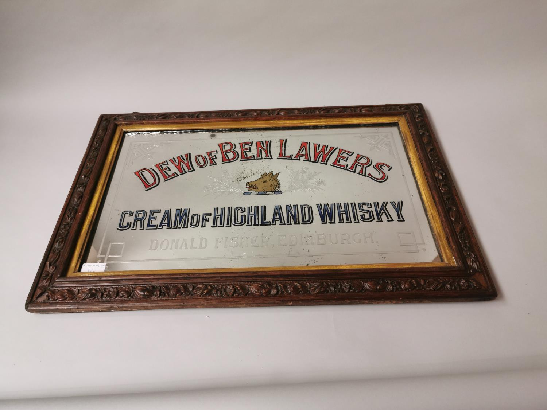 Dew Of Ben Lawers Whisky advertising mirror.
