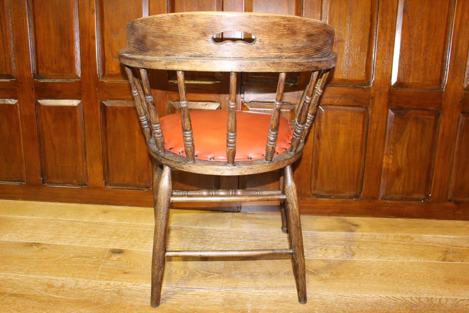 Elm captains chair - Image 2 of 2
