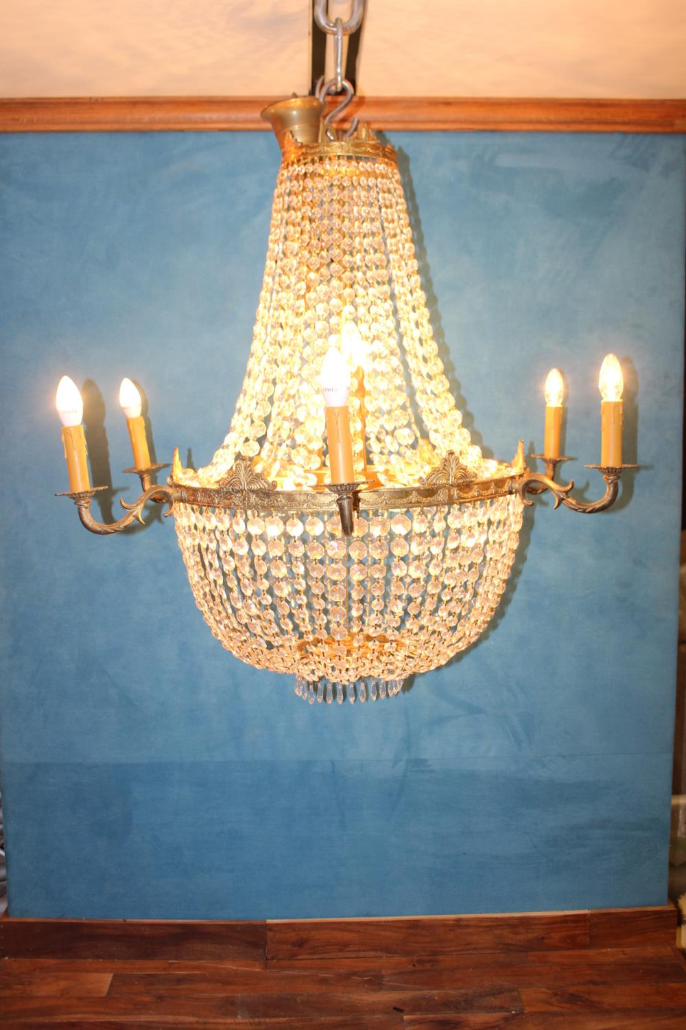 Six branch chandelier. - Image 2 of 2