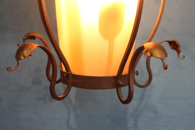 Decorative bronze hanging centre light - Image 2 of 2