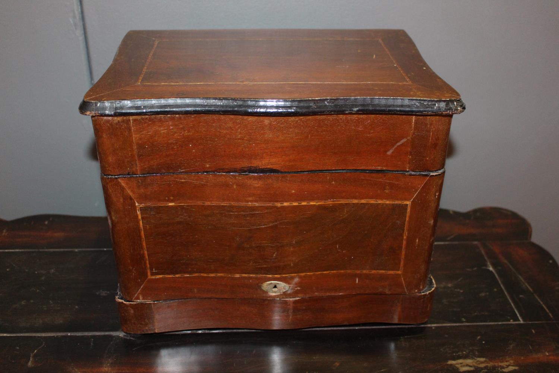 Inlaid mahogany smoker's cabinet