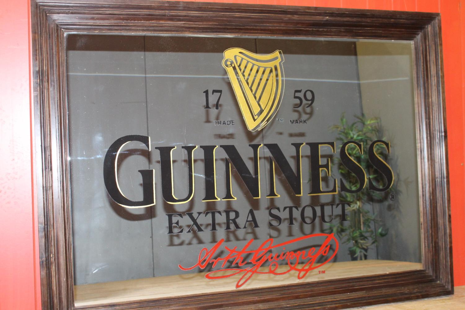 Guinness Extra Stout advertising mirror - Image 2 of 3