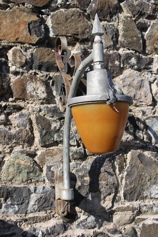 Wrought iron wall light