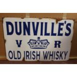 Dunville's Whiskey advertising sign