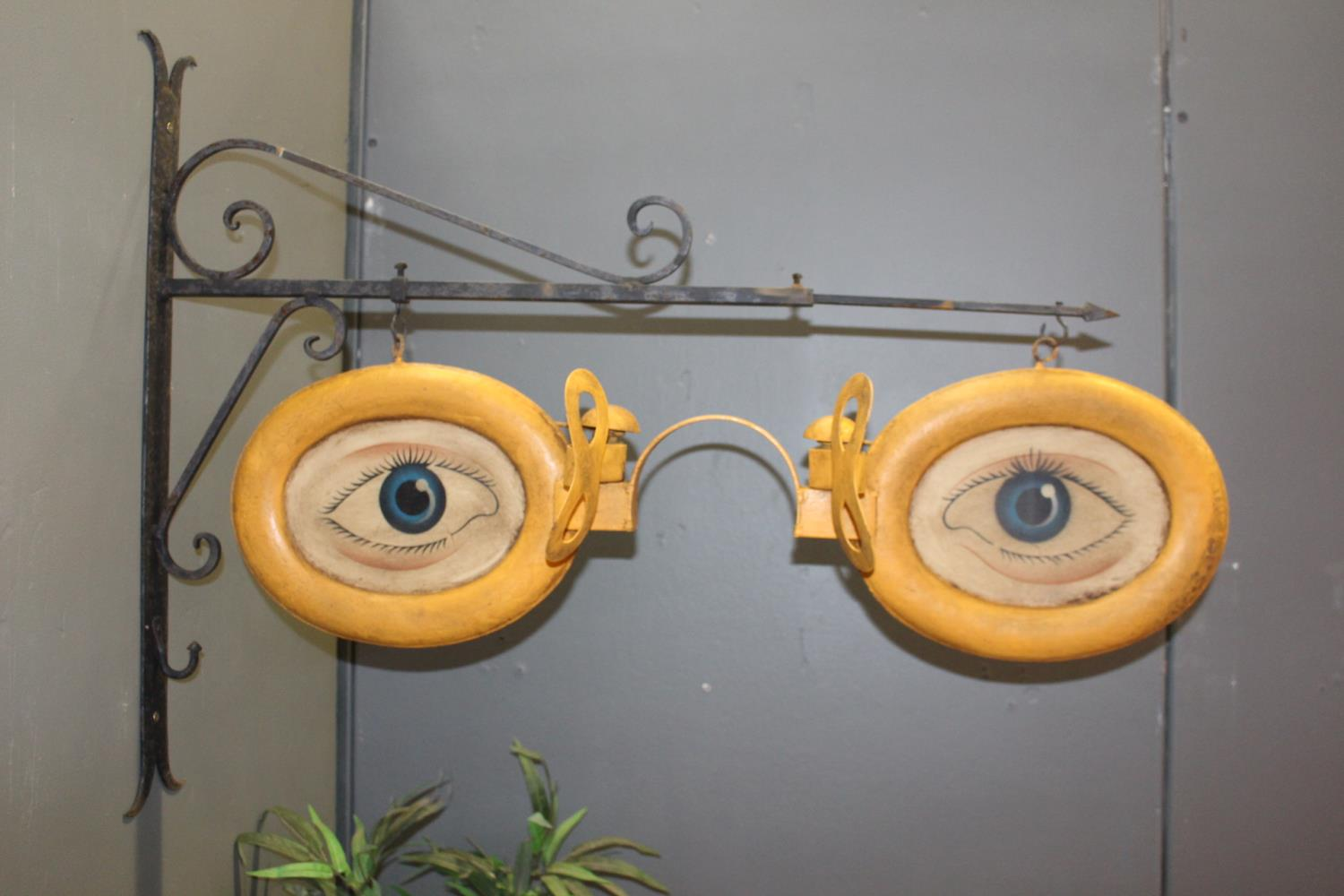 Optician's double sided metal advertising sign
