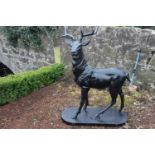Cast iron model of a Stag