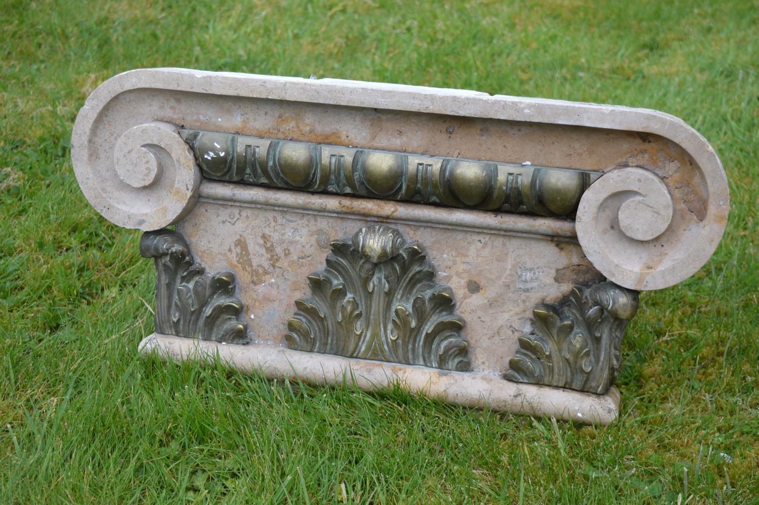 Set of six marble Corinthian capitals. - Image 2 of 2