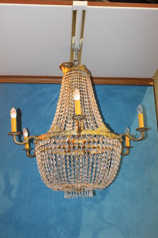 Six branch chandelier.
