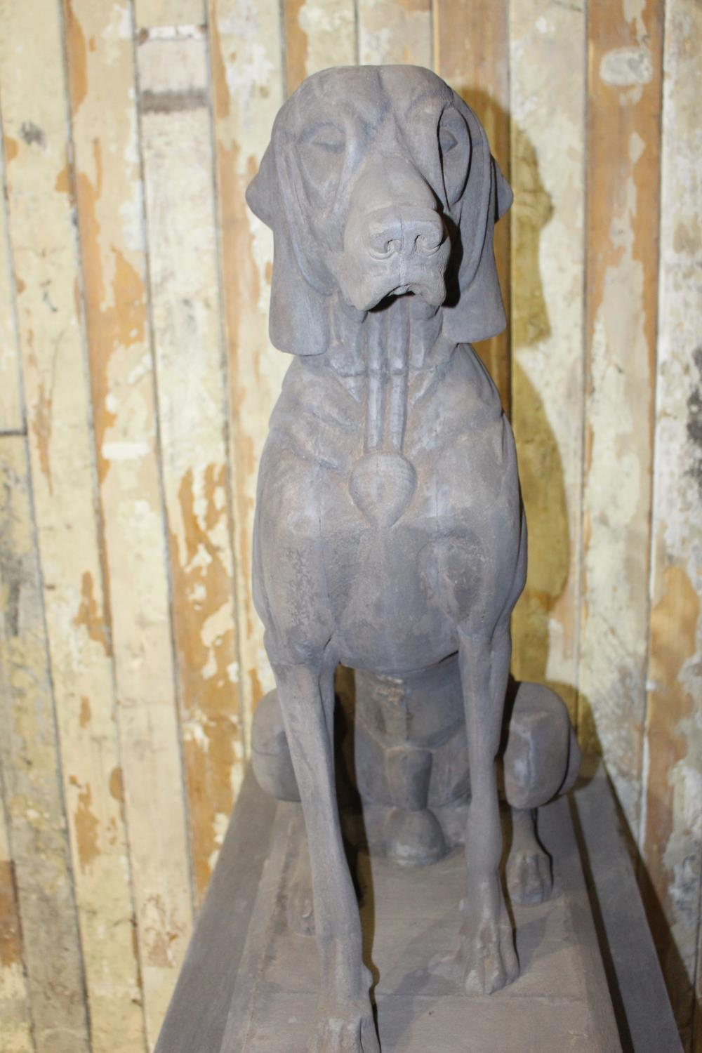 Pair of models of seated Hounds - Image 3 of 3