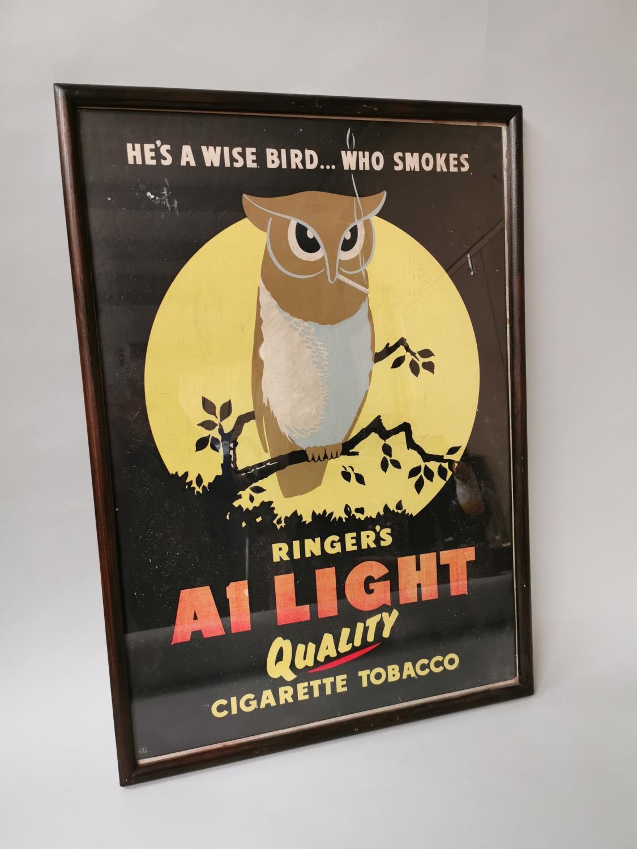Ringer's Cigarette Tobacco advertising print.
