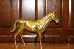 Brass model of horse