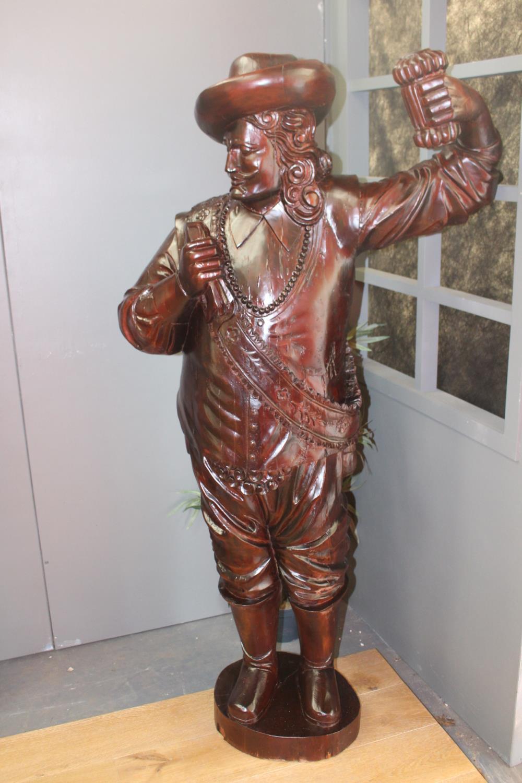 Wooden figure of a Buccaneer