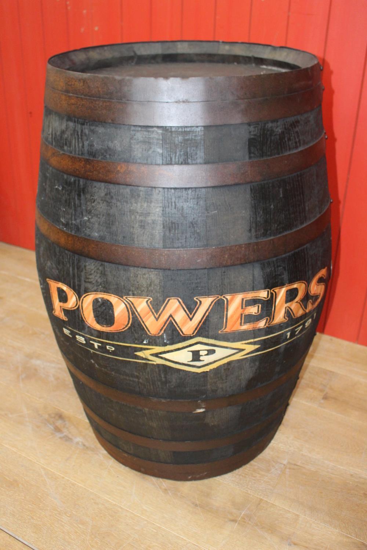Wooden Metal bound whiskey barrel - Image 2 of 2