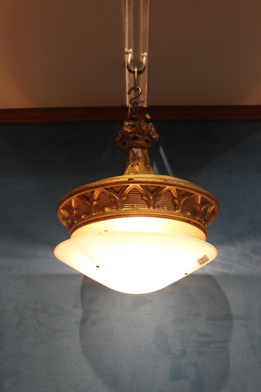 Gilt resin ceiling light