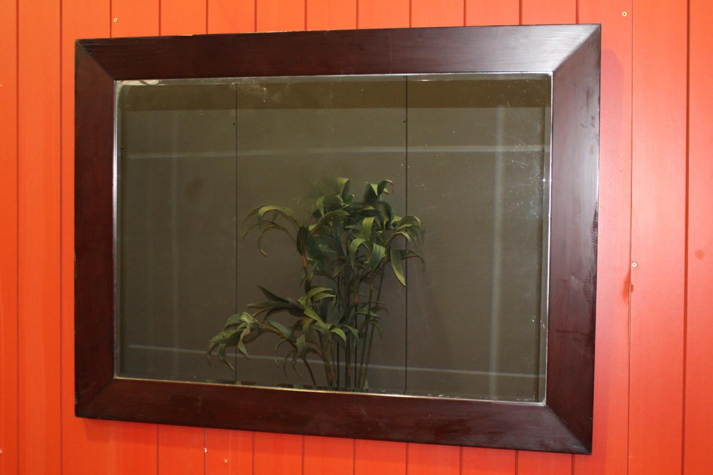 Mahogany wall mirror
