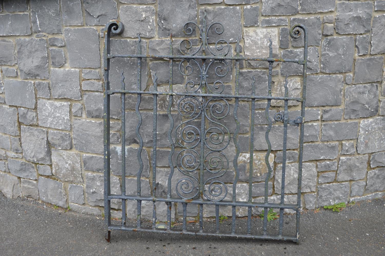 19th C. wrought iron garden gate.