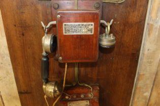 Telephone operator's exchange