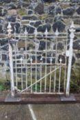 Cast iron garden entrance gate.