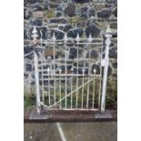 Cast iron garden entrance gate.