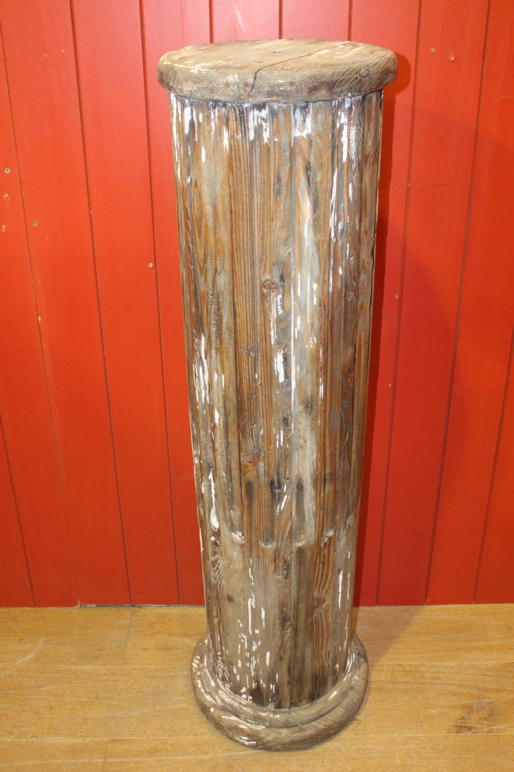 Wooden ribbed column